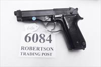 Beretta 9mm model 92S Italian Military Police JS92F300M type / ancestor c1978 16 Round 1 Pre-Ban Magazine Gloss Anodized Frame Factory Oxide Barrel Brunitron Slide Good 7GM
