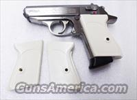 Walther PPK Grips Smith & Wesson variants White Polymer Imitation Ivory No PPKS No PP Screw Not Included adaptable to German & Interarms