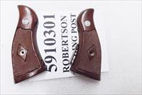 Smith & Wesson K or L Frame Grips Square Butt Service Magna Sile Italian Walnut New Old Stock 1980s Production