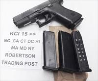 3 Glock 19 Magazines 9mm KCI 15 Shot $12 Each & Free Ship Free Falling Steel Inner Liner 4th Generation OK New Fits models 19 26 Buy 3, and shipping is free!