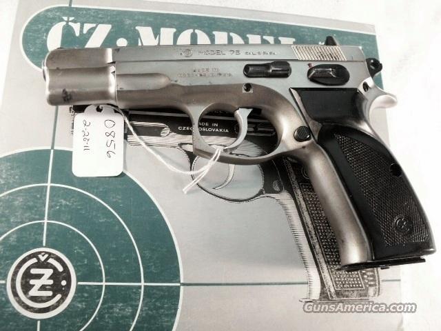 CZ-75 9mm Czech Police Satin Nickel 1992 SP01 type w/ 1 High Capacity 15  Shot Magazine CZ75 CZ model 75 Ceska Zbrojovka Browning Hi-Power HiPower  High