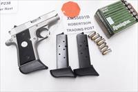 3 Colt .380 Mustang Sig P238 Factory 7 Shot Magazines SPC55691B Extended Finger Rest $26 per on 3