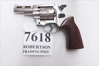 Rohm .38 Special RG38S 3 inch Vent Rib Chrome ca 1975 – 1978 Production RG Industries Security Service Revolver 38 Spl