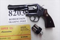 Smith & Wesson .38 Special Model 10-6 Heavy Barrel D489000 range 4 inch 1973 Montreal Police Department Blue with Imit. Ivory Grips Fair to Good Finish