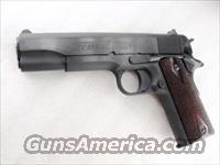 Colt .45 ACP Government Model 1991 Blue Steel 5 inch Rosewood NIB 45 Automatic 1911