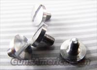 Beretta 92 Grip Screws Stainless Set of 4 Screws New Aftermarket GRBER13 Slotted type for Beretta M Nine 92S 92SB 92SBF 92F 96 All Variants