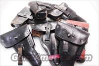 Walther P38 or P1 Germany Holster Black Leather Flap Meyer Germany ca 1960 West German Federal Police Cold War Issue