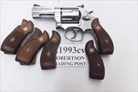 S&W K or L Frame Round Butt Factory Magna Service Walnut Revolver Grips 1962 Production for Smith & Wesson models 10 19 64 65 66 686 Very Good Condition 21993 type