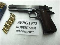 Star 9mm model B Super Spanish Army 1972 Good 5 inch Blue Colt Government Size 9 Shot 1 Magazine Super B
