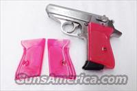 Walther PPK Grips Smith & Wesson variants translucent Hot Pink Polymer No PPKS No PP Screw Not Included adaptable to German & Interarms