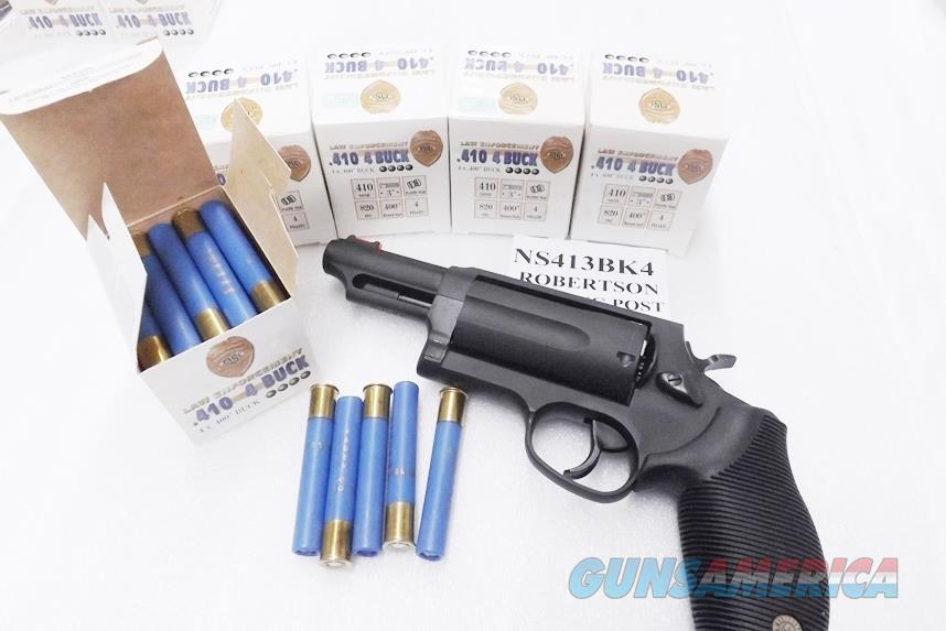 Ammo 410 Gauge 3 Inch Magnum Ooo 40 Buckshot Taurus Judge Ok 830