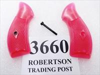 S&W J Frame Hot Pink Revolver Grips for Smith & Wesson models 36 60 642 GR3660P Smith & Wesson Checkered Surface Magna Small Type