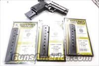 Star M43 Firestar Compact 9mm Pistol Magazine Extension 10 Shot Blue Steel New Triple K manufacture Model 43 only NOT for Firestar Plus Protrudes from the Grip Frame