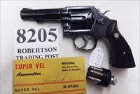 Smith & Wesson .38 Special Model 10-6 Heavy Barrel D643000 range 4 inch 1974 Montreal Police Department Blue with Magna Grips Good Condition