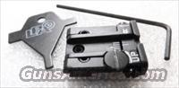 Sig Springfield Armory Adjustable Rear Sight LDA Italy White Dot Micro Style New .263 / .264 dovetail but .212 Overall Height P220 225 226 228 229 239 XD Series