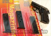 Beretta 3032 Tomcat .32 ACP Factory 7 Shot Magazine 2011 MDS Production NIB Blue & Stainless Pistols Not for Titanium 3032