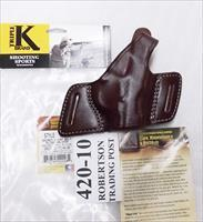 Triple K Leather Holster Secret Agent 420-10 Colt 1911 Government Hi Power Star B Taurus PT92 99 58 Kahr Hammer Down Carry Thumb Break Right Hand Brown Walnut Oil CZ75 Hammer Back 3 ship Free!
