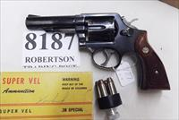 Smith & Wesson .38 Special Model 10-6 Heavy Barrel D820000 range 4 inch 1977 Montreal Police Department Blue with Magna Grips G-VG Condition