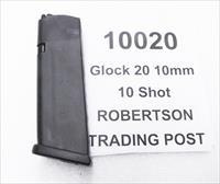 GGlock 20 10mm Factory 10 round magazines MF10020 NIB High Capacity Buy 3 Ships Free fits models 20 and 29