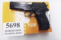 Sig 9mm P-226 All German 16 Shot 1987 Swiss Police Original Factory Orange Box & Manual 3 Dot Sight with 1 Factory Magazine E26R9B