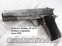 Ballester Molina .45 ACP 1911 type Argentine Federal Police ca. 1952 Hafdasa Argentina 45 Automatic C&R CA OK