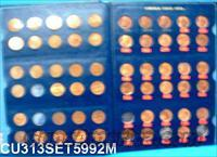Coins US Lincoln Cents 1959-1992 Lacks 15 all XF/AU