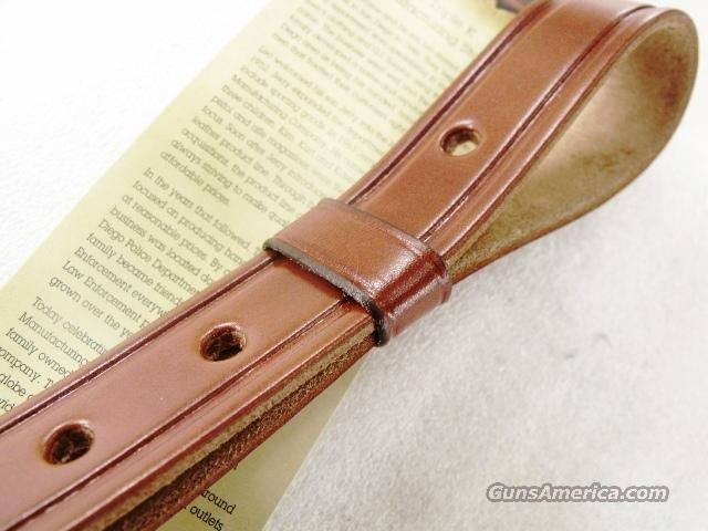 Rifle sling us leather hand carved suede lined for sale
