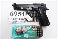 Beretta 9mm model 92S Italy Military Police Italian Carabinieri VG JS92F300M type / ancestor c1978 w1 15 round Magazine Factory Gloss Anodized Frame, Oxide Barrel, Brunitron Slide, Inox Trigger Bar VGRO