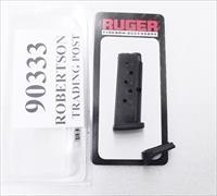 Ruger LCP .380 Pistol Factory 6 round Magazine 90333 MAG-6 NIB Blue Steel 2 Floorplates Flat & Finger rest Buy 3 Ships Free!