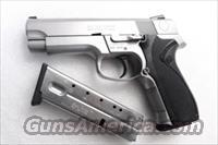 Smith & Wesson .40 model 4046 Stainless Steel Frame DAO 3 Dot 12 Shot 2 Magazines VG mfg 1998 Milwaukee County Sheriff Dept