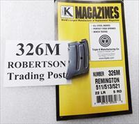Remington models 511 513 521 Nylon 11 Kimber K22 series .22 LR Triple K 5 round Magazine New Blue Steel 326M Buy 3 Ships Free!