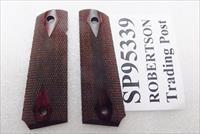 Colt Government Factory Rosewood Grips any Full Size 1911 SP95339 Double Diamond Checkered New 2007 Production 45 Automatic 38 Super Standard Grip Frame no Compacts