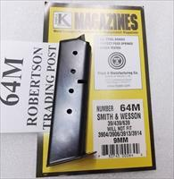 Smith & Wesson 9mm model 39 439 639 3904 3906 Triple K 8 Shot Magazine New Blue Steel 1970s Correct S&W 3900 series 64M Free Shipping on 3 or more
