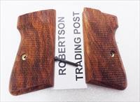 Walther PP or PPK/S Grips Herrett Cut Checkered Cocobolo Wood HERW New PPKS