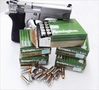 Ammo: 9mm +P Remington Golden Saber 124 gr JHP 25 Round Boxes Golden Saber Brass Jacketed Hollow Point 5x$19.80 Flying Ashtray Black Talon type Ammunition Cartridges 9 Luger Parabellum 9x19 $19.80 per 25 round Box in 5 box Lots GS9MMD