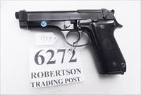 Beretta 9mm model 92S Italy Military Police Italian Carabinieri VG JS92F300M type / ancestor c1978 w1 15 round Magazine Factory Gloss Anodized Frame, Oxide Finish Slide & Blue Barrel VGOB