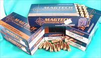 Ammo: 9mm Mag-Tech 115 grain FMC Ammunition Cartridges 9x19 Luger Parabellum NATO Magtech Brass Case
