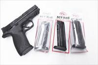 Lot of 3 Smith & Wesson M&P 9 17 Shot 9mm Act-Mag Magazines S&W MP9 Pistols M&P 9 High Capacity Steel New $ 23 per on 3 AMMP17PFB