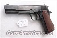 Star Spain 9mm Model BS Colt Government Size Steel Frame 1974 Israeli Police 9 Shot 1 Magazine