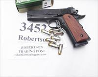 High Standard Mfg .45 ACP Crusader Compact = Armscor Rock Island 1911A1 CSP Tactical 3 1/2 inch Matte Blue Colt Officer's ACP copy Detonics descendant 45 Automatic 51429 VG in Box 2008 w/2 7 shot Magazines 2 Grips