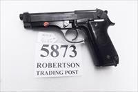 Beretta 9mm model 92S Italy Military Police Italian Carabinieri VG JS92F300M type / ancestor c1978 w1 15 round Magazine Factory Gloss Anodized Frame, Oxide Finish Slide & Barrel VGM