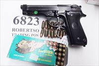 Beretta 9mm model 92S Italy Military Police Italian Carabinieri VG 1977 First Year w1 15 round Magazine Factory Gloss Anodized Frame, Slide & Barrel c1978