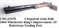 1866 Winchester King's Improvement close Copy Chaparral Arms .45 Colt Black Powder Cartridge 1866 Color Casehardened Walnut Transitional Style close to 1873 Octagonal 20 inch CDGA5478