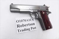 Colt .45 ACP Series 70 Government Custom Shop 2009 Unfired in Box O1070A1CS Govt Model 1911 Series 45 Automatic Stainless & Rosewood