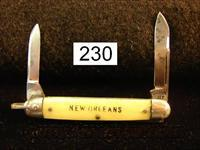 Knife: Queen City New Orleans Tourist Pen Knife 1950s