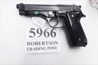 Beretta 9mm model 92S Italian Military Police c1978 16 Round 1 Pre-Ban Magazine Gloss Anodized Frame Factory Oxide Barrel & Slide Good 7GM