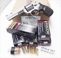 Ammo: .357 Magnum Fiocchi 250 Round Lots of 5 Boxes $19.80 per 50 round box 158 grain Hornady TMJ FMC Total Full Metal Case Jacket 357 Mag Ammunition Cartridges 357GCMJ