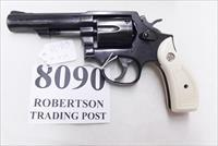 Smith & Wesson .38 Special Model 10-10 Blue 4 inch Heavy Barrel 1997 Very Good Cond Round Butt with Imitation Ivory Magna Grips