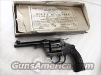 Colt .38 S&W / New Police Caliber Police Positive 4 inch Excellent with Original Box Manufactured 1914 Joplin MO Domicile C&R OK