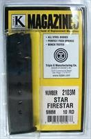 Star M43 Firestar Compact 9mm Pistol Magazine Extension 10 Shot Blue Steel New Triple K manufacture Model 43 only NOT for Firestar Plus Protrudes from the Grip Frame Buy THREE Ships FREE!